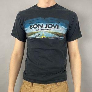 Vintage Y2K Bon Jovi lost highway double sided tee